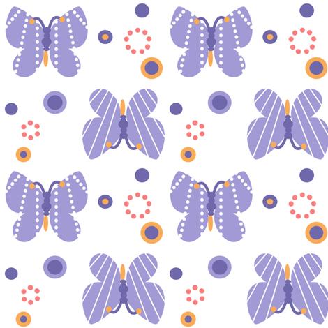 Butterflies & Dots! - Sunshine Days - © PinkSodaPop 4ComputerHeaven.com fabric by pinksodapop on Spoonflower - custom fabric