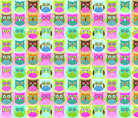 Alexander Owls - multi colorway fabric by petunias on Spoonflower - custom fabric