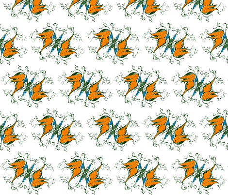 FANTASY-BUTTERFLIES-white fabric by garwooddesigns on Spoonflower - custom fabric
