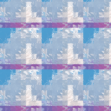 Cloud Snowflake Squares, S fabric by animotaxis on Spoonflower - custom fabric