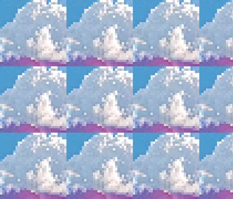 Pixel Cloud, L fabric by animotaxis on Spoonflower - custom fabric