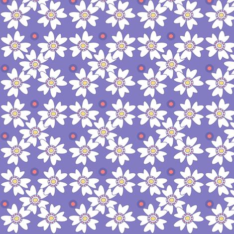 Flower Trellis & Dots! - Sunshine Days - © PinkSodaPop 4ComputerHeaven.com fabric by pinksodapop on Spoonflower - custom fabric