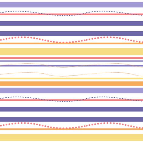 Curvy Dots & Stripes - Sunshine Days - © PinkSodaPop 4ComputerHeaven.com fabric by pinksodapop on Spoonflower - custom fabric