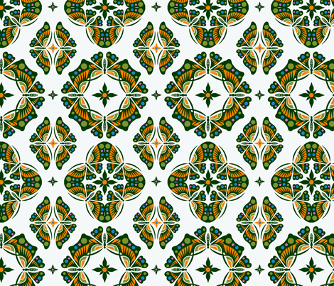 Butterfly Ornamental - smaller fabric by andibird on Spoonflower - custom fabric