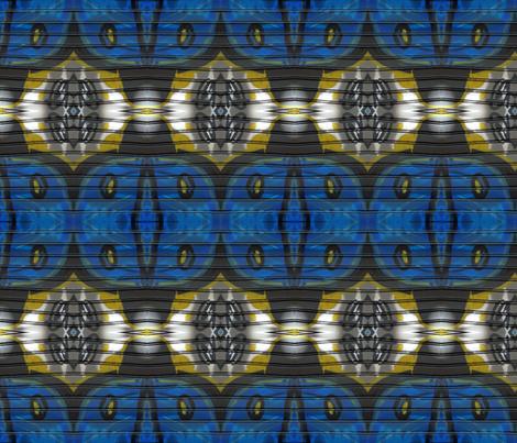 Sons of Big Blue Bird fabric by susaninparis on Spoonflower - custom fabric
