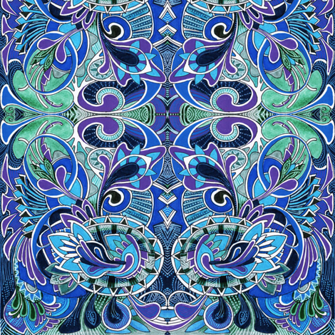 Swirliques and Curlies fabric by edsel2084 on Spoonflower - custom fabric