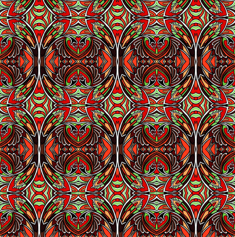 Nouveau Victorian Swirligigs fabric by edsel2084 on Spoonflower - custom fabric