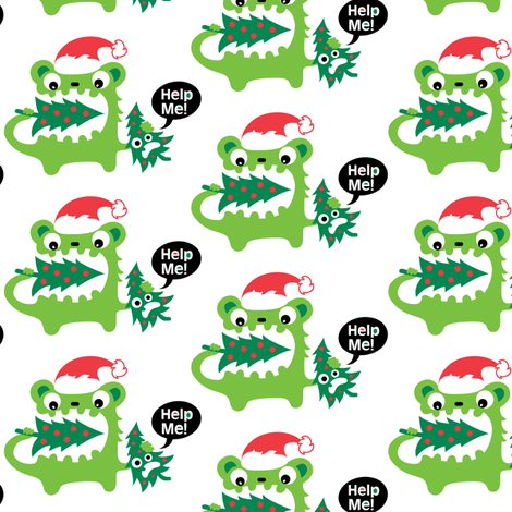 Christmas Help Me fabric by andibird on Spoonflower - custom fabric