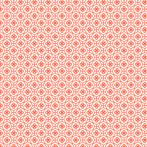 Orange Lattice fabric by inscribed_here on Spoonflower - custom fabric