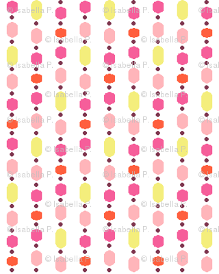 Bead Curtain - Pink