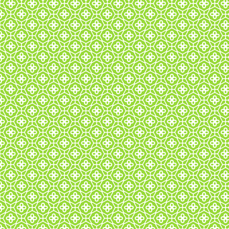 Green Lattice fabric by inscribed_here on Spoonflower - custom fabric