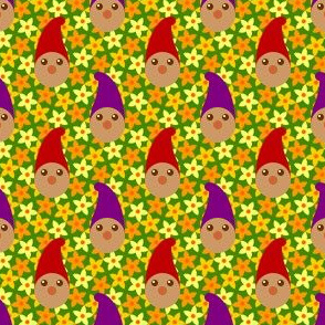 gnomes in the pumpkin patch