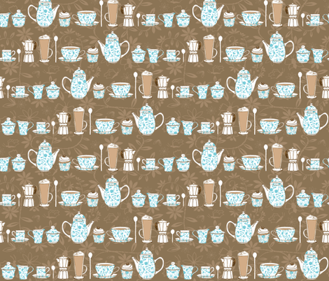 Original Coffee Culture fabric by jasmo on Spoonflower - custom fabric