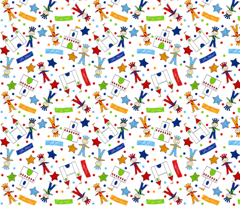 Happy Friends Prince fabric by jpdesigns on Spoonflower - custom fabric