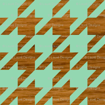 wooden houndstooth