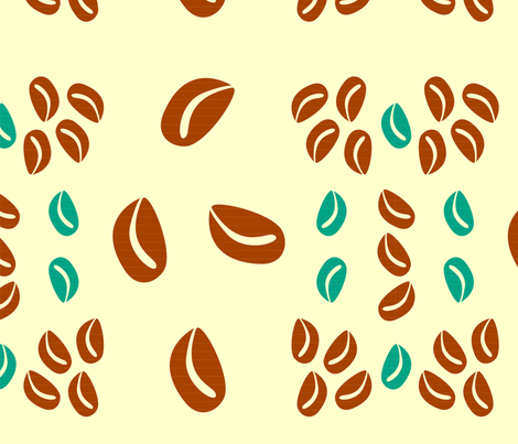 Coffee Beans fabric by rebebe on Spoonflower - custom fabric