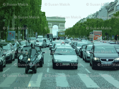 On the avenue des Champs-Élysées, Paris