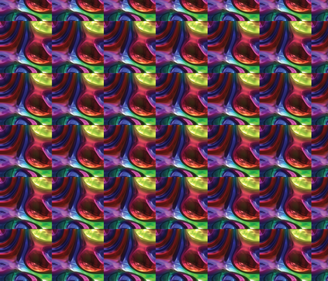 Psychedelic Clouds 1 fabric by animotaxis on Spoonflower - custom fabric