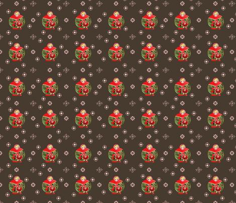 matrioschka_garden_choco_S fabric by nadja_petremand on Spoonflower - custom fabric
