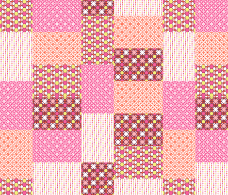 Pink Glass Quilt fabric by inscribed_here on Spoonflower - custom fabric