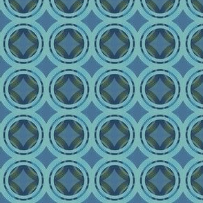 Groovy blue layers