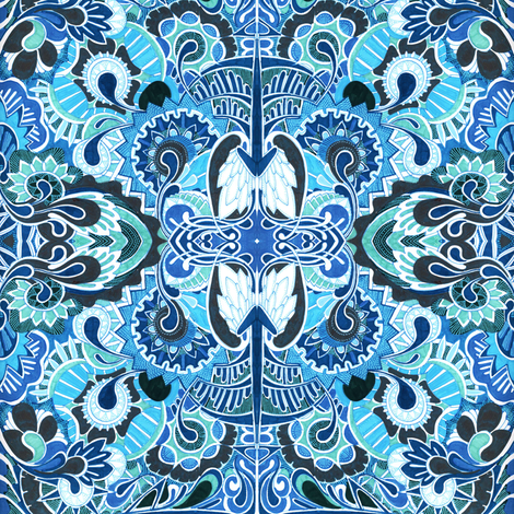 Wings and Strings (full art) fabric by edsel2084 on Spoonflower - custom fabric