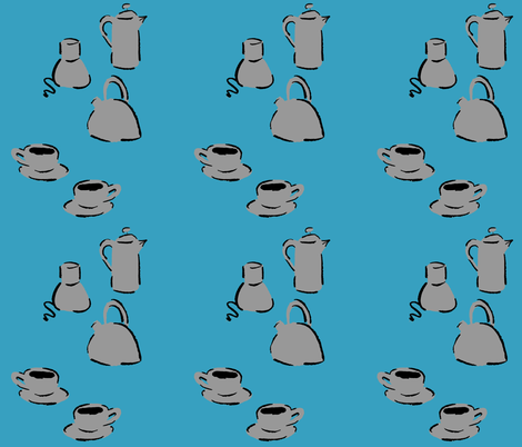 Coffee fabric by chirp! on Spoonflower - custom fabric