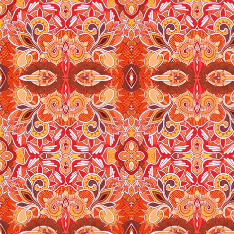 Hot time in the city fabric by edsel2084 on Spoonflower - custom fabric