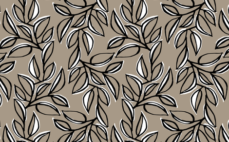 leaves 1 fabric by monmeehan on Spoonflower - custom fabric