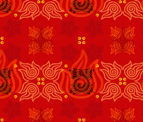 Avatar: Fire Nation fabric by kellyw on Spoonflower - custom fabric