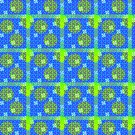 ©2011 quatrefoil cool fabric by glimmericks on Spoonflower - custom fabric