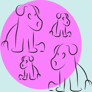 Purple little pups