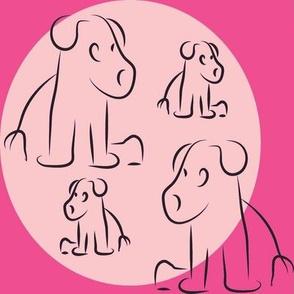 Pink little pups