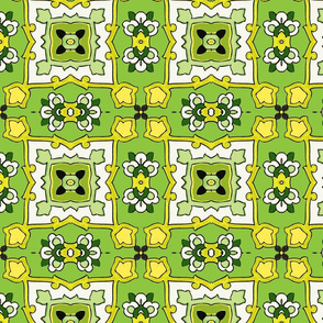 Small Tile-green-yellow