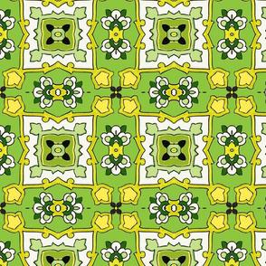 Small Tile-green-yellow