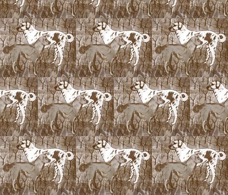 Anatolian Shepherd collage fabric by dogdaze_ on Spoonflower - custom fabric