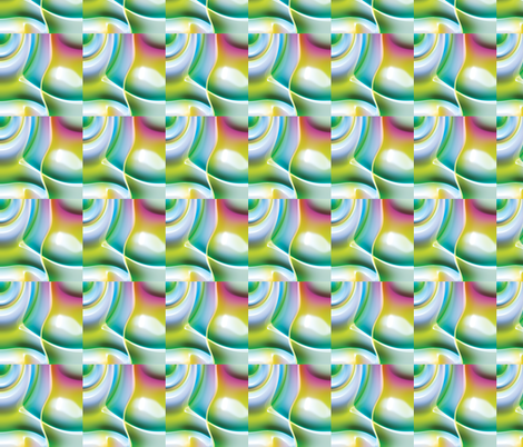 Psychedelic Clouds 4 fabric by animotaxis on Spoonflower - custom fabric