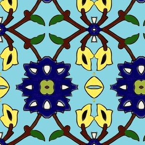 flowertile turquise