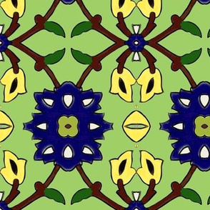 flowertile green