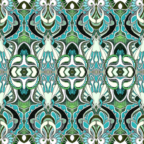 Wallpaper Tango fabric by edsel2084 on Spoonflower - custom fabric