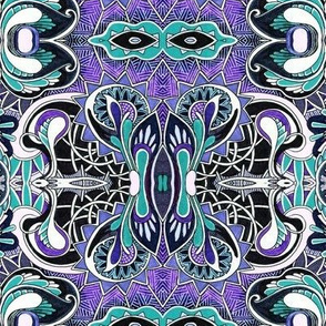 Swirlique and Curlique cropped purple variation