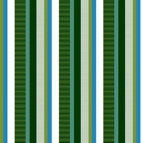 Blue-Green Stripe I