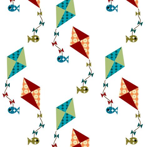 kite fishing fabric by krihem on Spoonflower - custom fabric