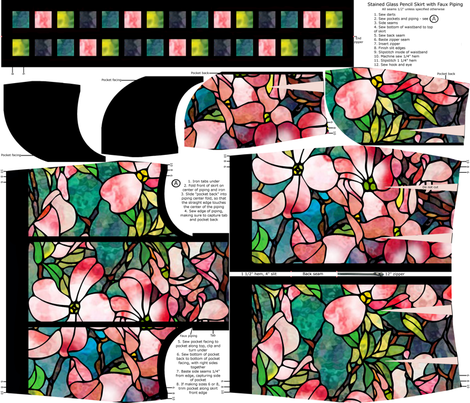 Stained Glass Pencil Skirt fabric by thesummercountry on Spoonflower - custom fabric