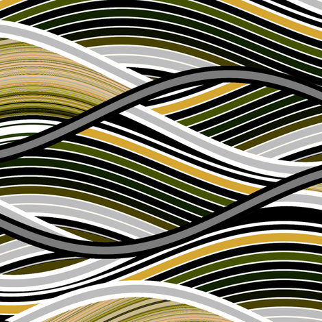 Organic Wave fabric by joanmclemore on Spoonflower - custom fabric