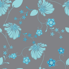 Daisy Chain Blue and Gray