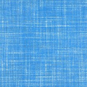 Faux linen Azure Blue