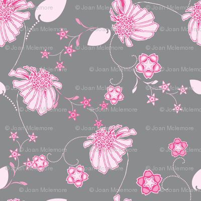 Daisy Chain Pink and Gray