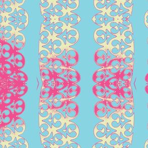 garland turquise pink