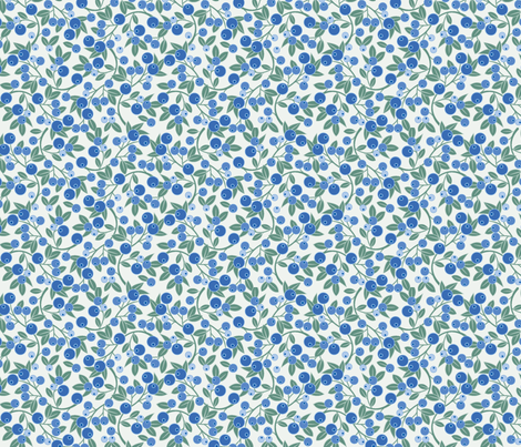 Blueberry Sprig fabric by cindylindgren on Spoonflower - custom fabric
